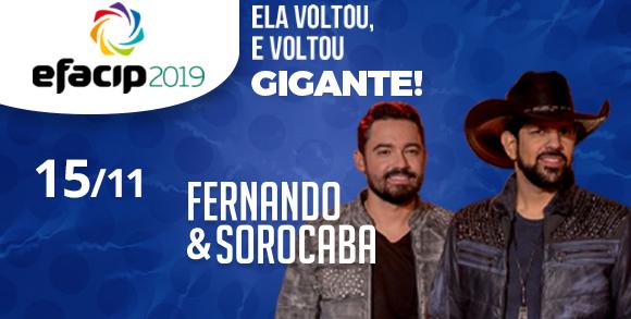 Evento 15/11 FERNANDO E SOROCABA NA EFACIP 2019