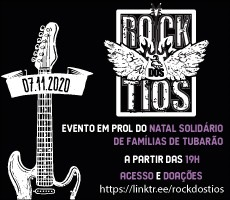 SEGUNDA LIVE SOLIDARIA DO ROCK DOS TIOS