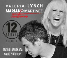 VALERIA LYNCH Y MARIANO MARTINEZ íNTIMO